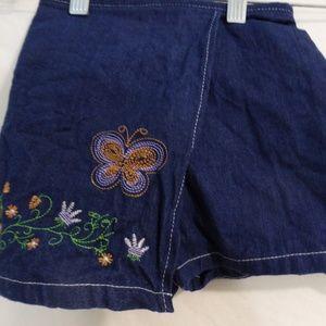 ICZ jean skorts, 3x 100% cotton, butterfly flowers